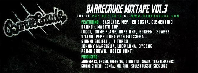 Barracruda Barrecrude Mixtape Vol.3 Featuring