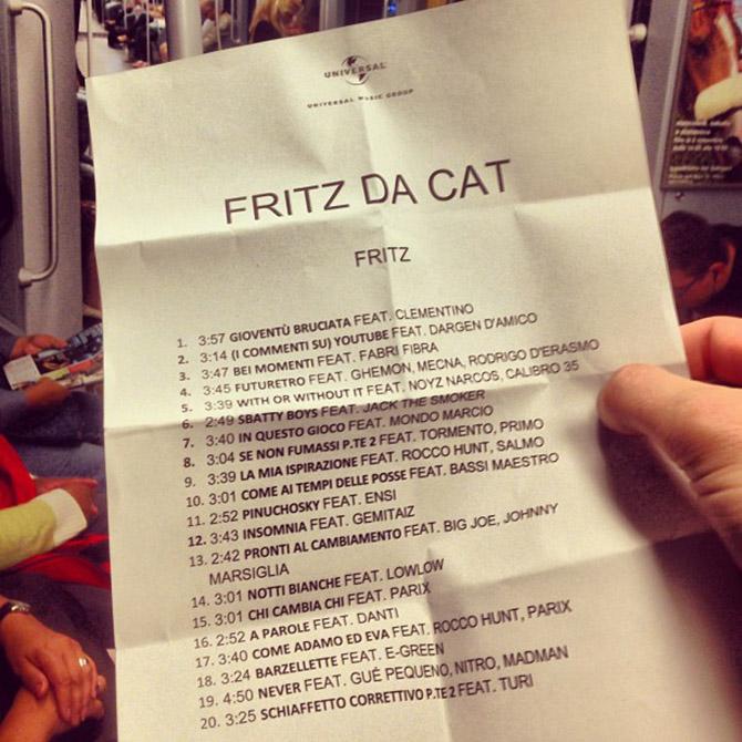 Tracklist Fritz da Cat Fritz