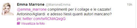 twit Emma Marrone Nesli