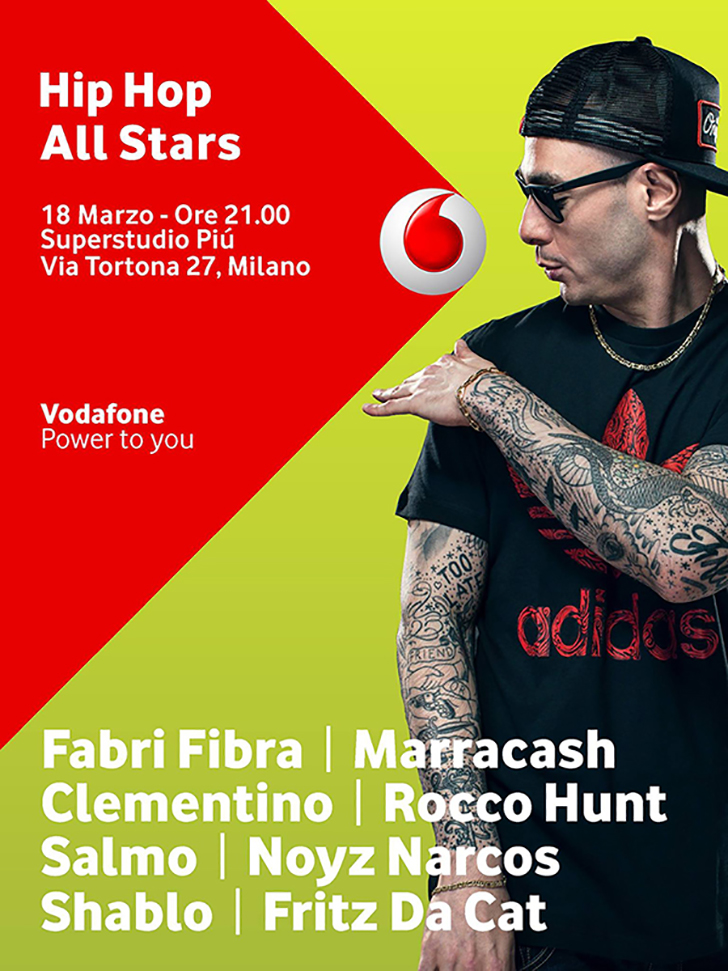 Flyer evento Vodafone Hip Hop All Stars